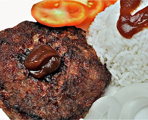 U.S. CATTLE BEEF BURGER RICE