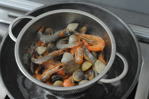 Steaming Seafood