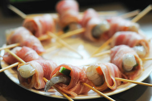 RAW Rolled Bacon Wrapped Shrimp